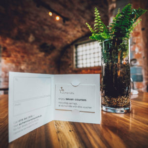 Buy a gift voucher for seven courses with wine pairings for Alchemilla through our official voucher shop